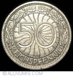 Image #1 of 50 Reichspfennig 1928 A
