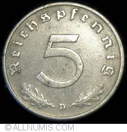 Image #1 of 5 Reichspfennig 1943 D