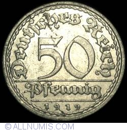 Image #1 of 50 Pfennig 1919 A