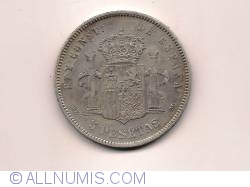 Image #2 of 5 Pesetas 1878 DE-M