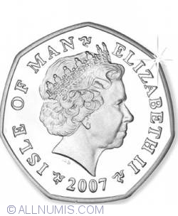 50 Pence 2007 - 100th Anniversary of the TT Races