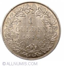 Image #2 of 1 Gulden 1849