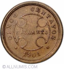 Imaginea #2 a 5 Centavos 1901