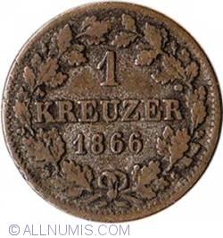 Image #2 of 1 Kreuzer 1866