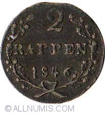 Imaginea #1 a 2 Rappen 1846