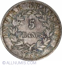 Image #2 of 5 Francs 1812 W
