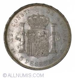 Image #2 of 5 Pesetas 1899