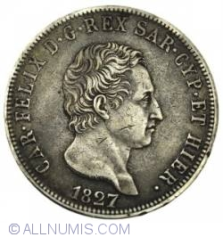 Image #2 of 5 Lire 1827 P