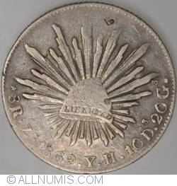 Image #1 of 8 Reales 1869  Zs with chopmarks