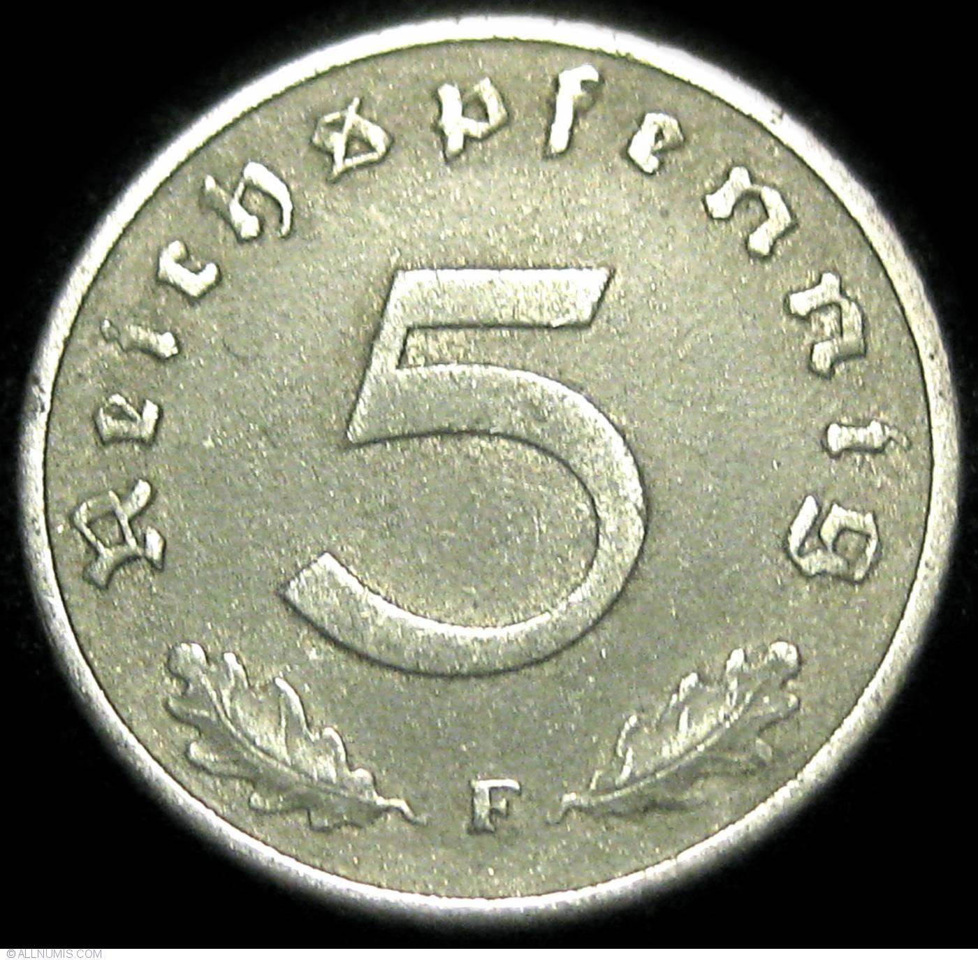 5 Reichspfennig 1941 F, Third Reich (1933-1945) - Germany