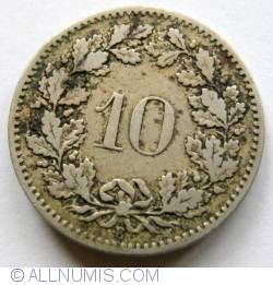 Image #2 of 10 Rappen 1884