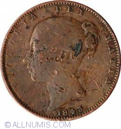 Image #2 of Farthing 1843