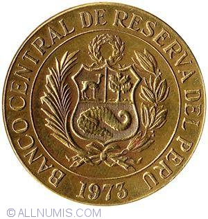 1 Sol De Oro 1973 Republic 1961 1980 Peru Coin 20363