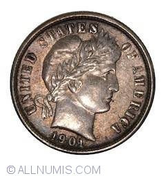 Image #1 of Barber Dime 1901