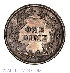 Image #2 of Barber Dime 1901