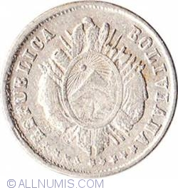 Imaginea #2 a 5 Centavos 1876