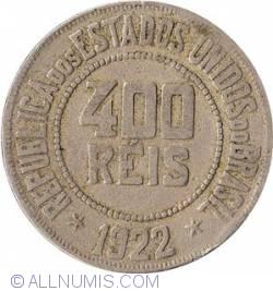 Image #2 of 400 Reis 1922