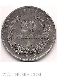 Image #2 of 20 Centesimos 1893