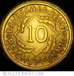 Image #1 of 10 Reichspfennig 1934 D