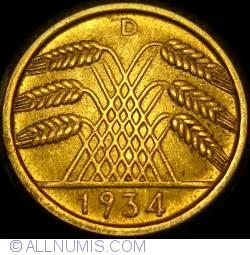 Image #2 of 10 Reichspfennig 1934 D