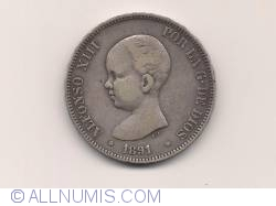 5 Pesetas 1891
