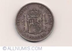 Imaginea #2 a 5 Pesetas 1891