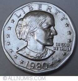 Image #2 of Anthony Dollar 1980 P