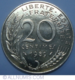 Image #1 of 20 Centimes 1989