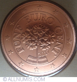 Image #2 of 5 Euro Cent 2017