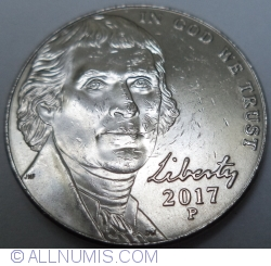 Jefferson Nickel 2017 P