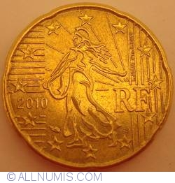 Image #2 of 20 Euro Cent 2010