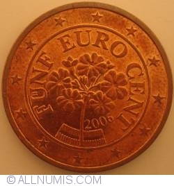 Imaginea #2 a 5 Euro Centi 2006