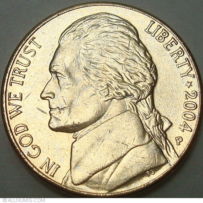 Jefferson Nickel 2004 P Purchase Gold-Plated, Nickel (Five Cents