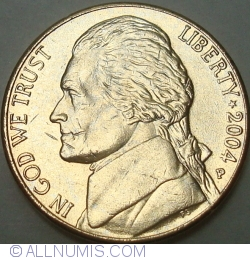 Image #2 of Jefferson Nickel 2004 P Purchase Gold-Plated