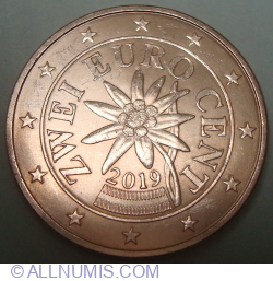 Image #2 of 2 Euro Cent 2019
