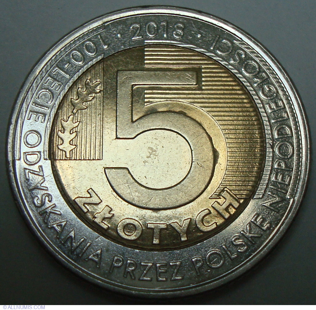 5 Złotych 2018 - 100th Anniversary of Independence