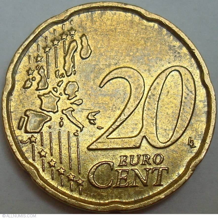20 euro cent 2004 euro 2002 present italy coin 29757. Black Bedroom Furniture Sets. Home Design Ideas