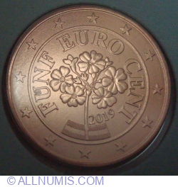 Image #2 of 5 Euro Cent 2019