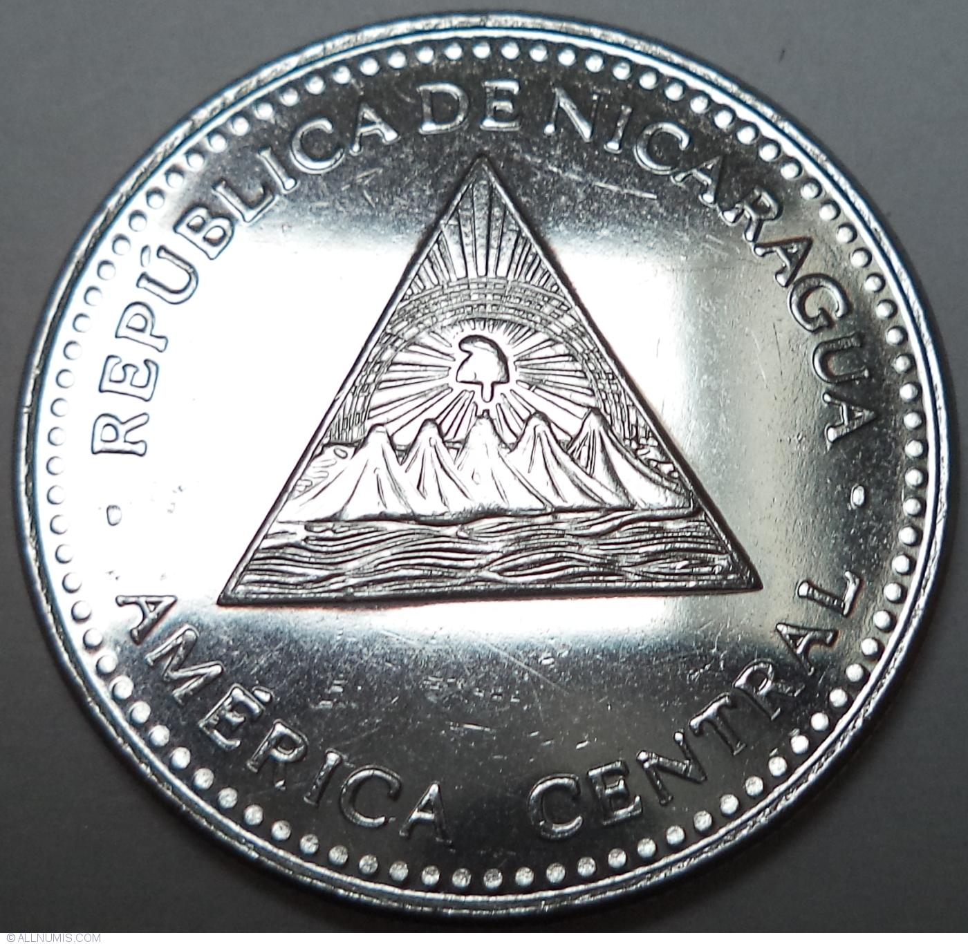 1 Cordoba 2014 Republic 2001 2020 Nicaragua Coin 41535
