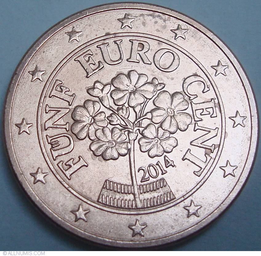 5 euro centi 2014 euro 2010 2019 austria moned 33133. Black Bedroom Furniture Sets. Home Design Ideas