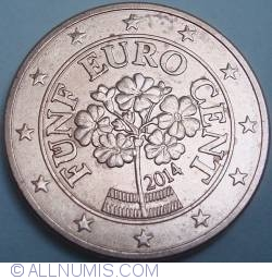 Image #2 of 5 Euro Cent 2014