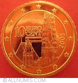 Image #2 of 10 Euro Cent 2005