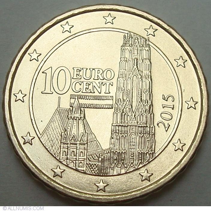 10 euro cent 2015 euro 2010 2019 austria coin 35764. Black Bedroom Furniture Sets. Home Design Ideas