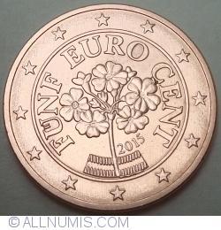 Image #2 of 5 Euro Cent 2015