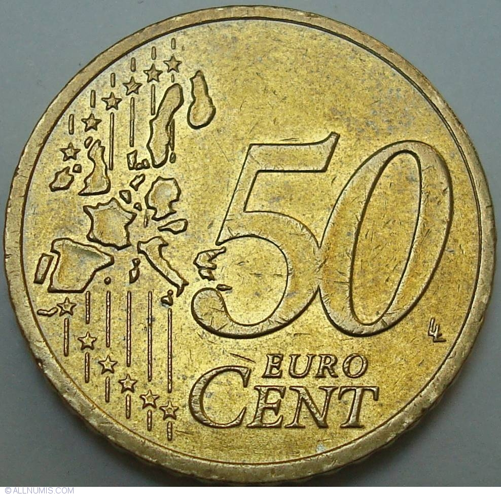 50 Euro Cent 2003 A Euro 2002 Present Germany Coin