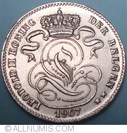 Image #2 of 1 Centime 1907 (Dutch)