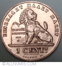 Image #1 of 1 Centime 1907 (Dutch)