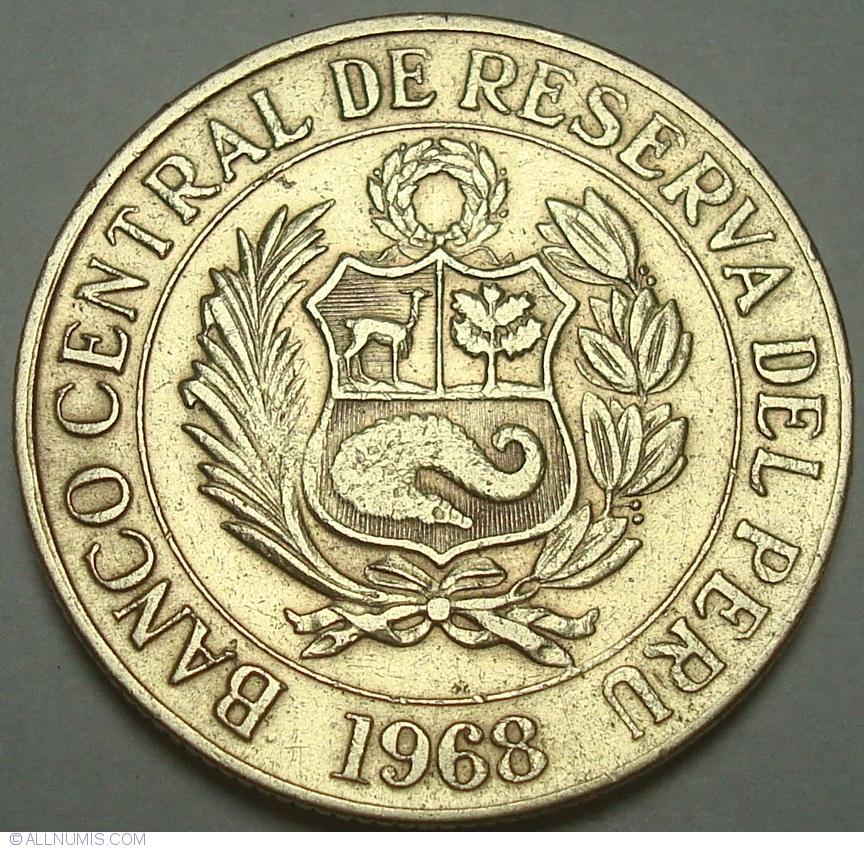 1 Sol 1968 Republic 1961 1980 Peru Coin 35080