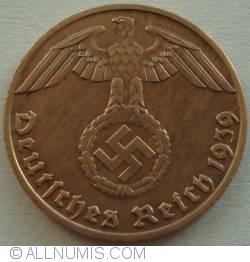 Image #2 of 1 Reichspfennig 1939 J
