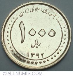 Image #1 of 1000 Rials 2013 (1392 - ۱٣٩۲)